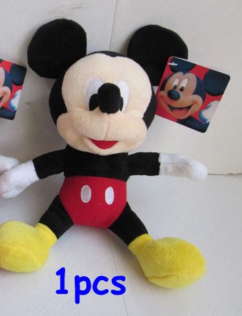 Free Shipping 1pcs Mickey Mouse Plush Animal Toys,28cm Mickey Plush Dolls For Christmas Gifts,kids gifts(China (Mainland))