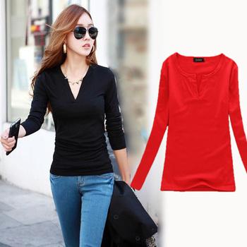 Blusas Femininas 2015 V-Neck Women Blouses crochet Plus Size Knitted Clothes Long Sleeve Tops for Women clothing
