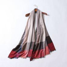 Autumn 2016 western famous fashion brand women scarf plaid lady silk cashmere scarves luxury designer classical shawl scarves(China (Mainland))