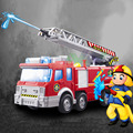 Playmobile Fireman Sam Kids Toy Truck Car With Music Led For Baby Toys Fire Truck Educational