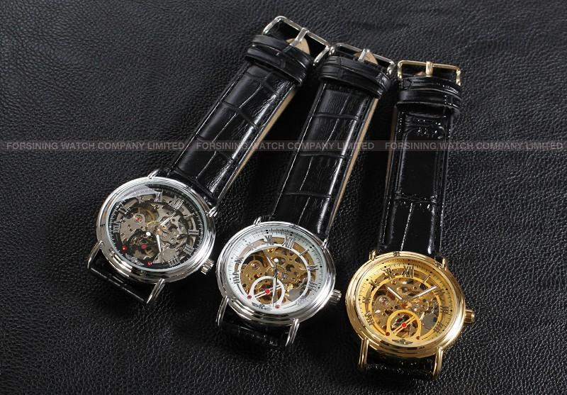 Новый Победитель Повседневная Автоматические Часы Мужчины Горячие продажи золота Автоматические моды для Мужчин Смотреть кожаный ремешок Доставка Бесплатно WRG8075M3G1