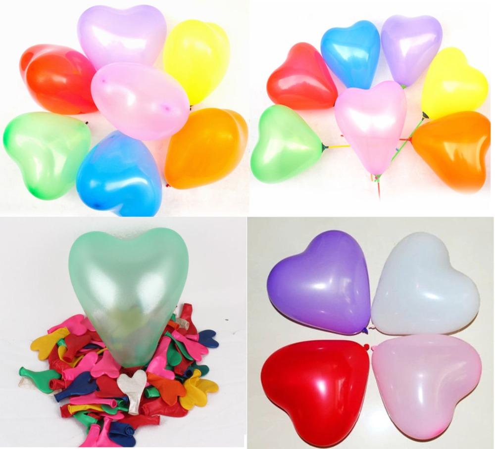 50 pcs/lot 10 inch 1.5g durable colorful Novetly Wedding Birthday Party Decoration Balloons Love Heart Shape Latex Balloons(China (Mainland))