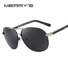 MERRY'S Men Classic Brand Sunglasses Luxury Aluminum Polarized Sunglasses EMI Defending Coating Lens Driving Shades S'8371(China (Mainland))