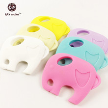 Silicone Teething toy Elephant Teether Accessory safe eco baby holder teether Large toddler chewie Toy DIY nursing Accessories(China (Mainland))