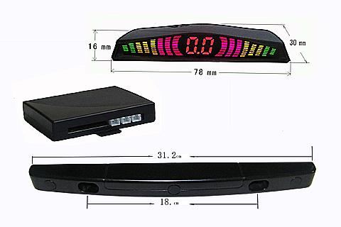 USA Lincese plate frame Auto Parking radar System LED Display Indicator Car Reverse Radar +3 PCS Sensors Freeshipping(China (Mainland))