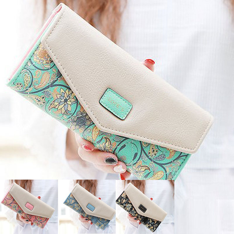 2016 New Long Luxury Women Purses Wallet Fashion Portefeuille Femme PU Leather Lady Cluth Chinese National Style Women Wallets(China (Mainland))