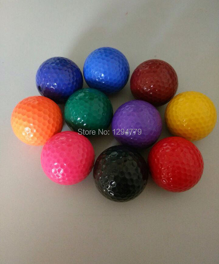 Free shipping Promotional Colorful Mini Golf Balls Golf Practice training Balls with blister packing 6PCS/LOT(China (Mainland))