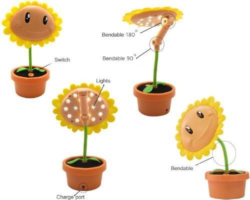 com buy novelty design cute plants vs zombies sun flower led lamp. Black Bedroom Furniture Sets. Home Design Ideas