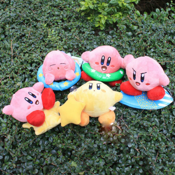 5sets 5pcs/set 5inch Super Mario Bros Kirby Plush Toy Stuffed Doll Toys Free shipping(China (Mainland))