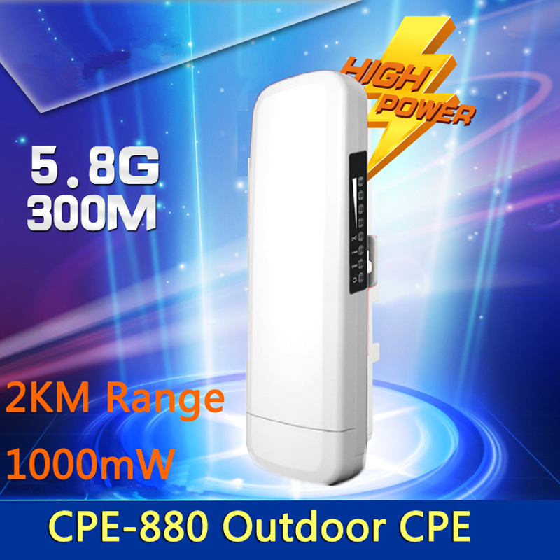 2KM WIFI Range Wireless WIFI Extender WIFI Repeater 5.8G 300Mbps Outdoor CPE Router WiFi Bridge Access Point AP Router 1000mW(China (Mainland))
