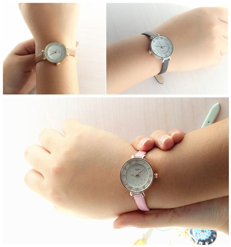 Новая леди женщина юлий наручные часы кварцевые четыре мульти-клевер часов лучший мода платье кожаный браслет девочку подарок на день рождения 869