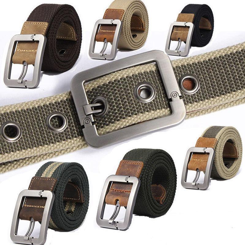 2015 Men's Casual Belts buckle canvas fashion belt men, Male Strap Military Belt drop shipping - Laid-back station store
