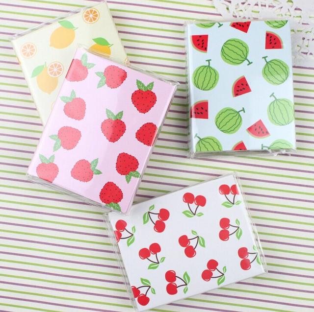 Свежий стиль фрукты 4 складной памятки блокнот закладка подарок канцелярские