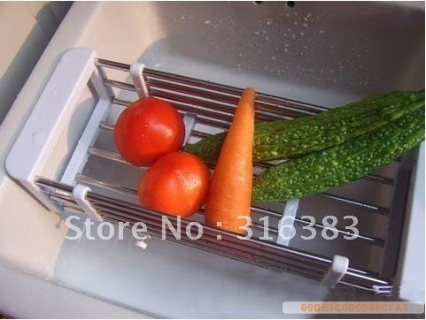 Fruit and Vegetable Rack Drainer Dryer Tray Sink Shelf Storage,Bowel and scoop shelives,Fruit shelf