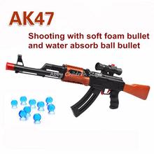 АК 47 Игрушечный Пистолет 400 Шт. Вода Поглощает Пуля 3 Шт. Мягкий пуля Пистолет Пистолет Orbeez Игрушка Водяной Пистолет Кристалл Пуля Пневматического Подарок На День Рождения