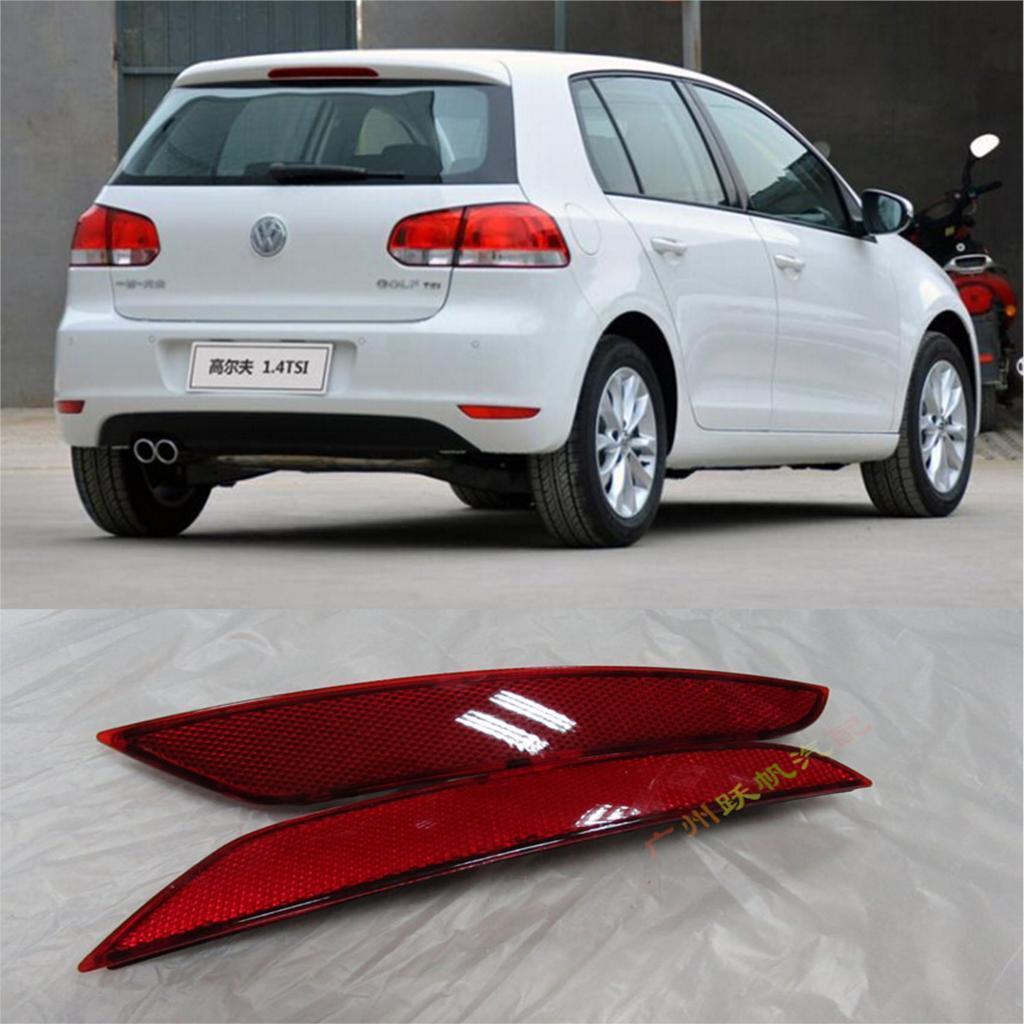 2 шт. заднего бампера отражатель света накладка для Volkswagen Golf MK6 стандартный 09 - 11 бесплатная доставка