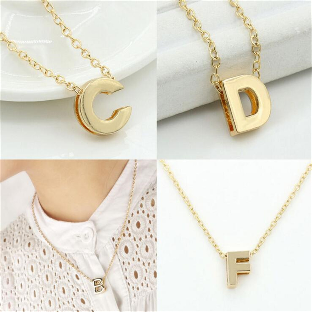 s name fashion b womens font new alloy charm necklace pendant letter diy products sale chains link chain metal women hot initial
