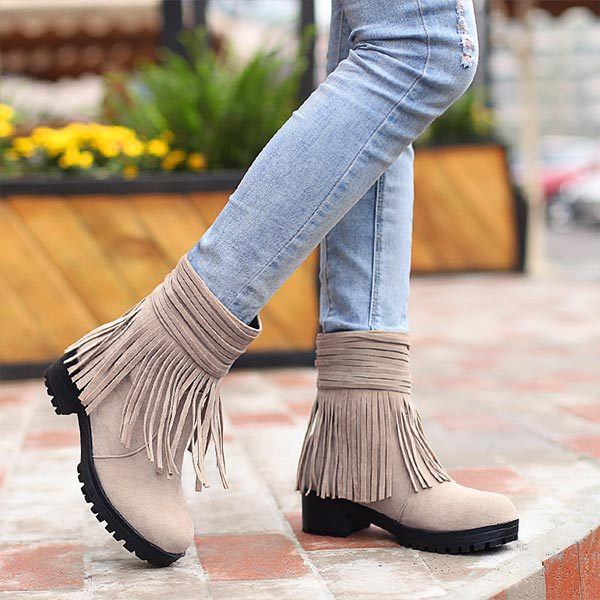 fringe ankle boot page 5 - combat