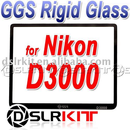 Exact size and fit !GGS LCD Screen Protector optical glass for NIKON D3000<br><br>Aliexpress