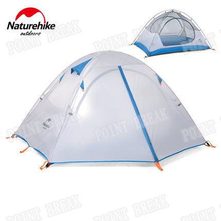 POINT BREAK 2 Person Outdoor Tent Double Layer Waterproof Dome Camping Family Double door tent(China (Mainland))