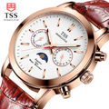 TSS gold shell flour quartz watch men watch three pin 50m waterproof sports watch 24 hours