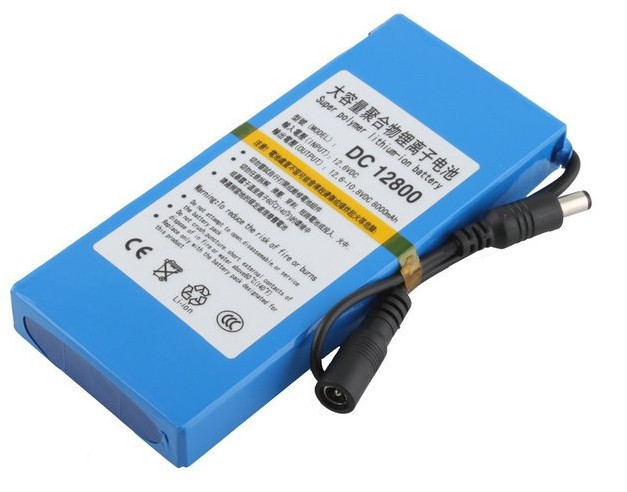 Free Shipping Wholesale Portable 12V Li-ion Super Rechargeable Battery Pack DC for CCTV Camera 8000mAh(China (Mainland))