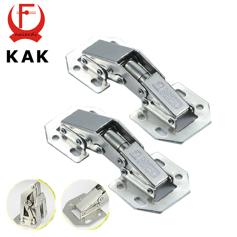 10PCS KAK-A99 90 Degree 3 Inch No-Drilling Hole Cabinet Hinge Bridge Shaped Spring Frog Hinge Full Overlay Cupboard Door Hinges(China (Mainland))