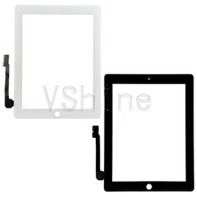 Black For Apple iPad 3/4 Front Glass Lens LCD Digitizer Touch Screen Replacement