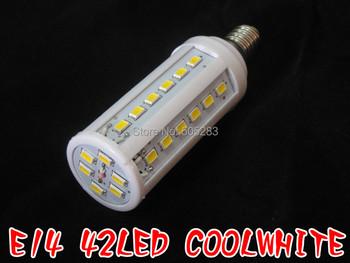 E14 5630 10W 42 led 1260lm 220V AC cool white warm white corn led bulb lamp A927