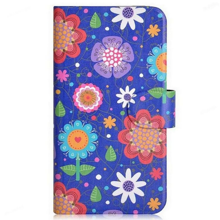 2015 New Colorful Flowers Tree leaf Small ball Card Slot PU Leather Flip Case Cover For Nokia E71(China (Mainland))
