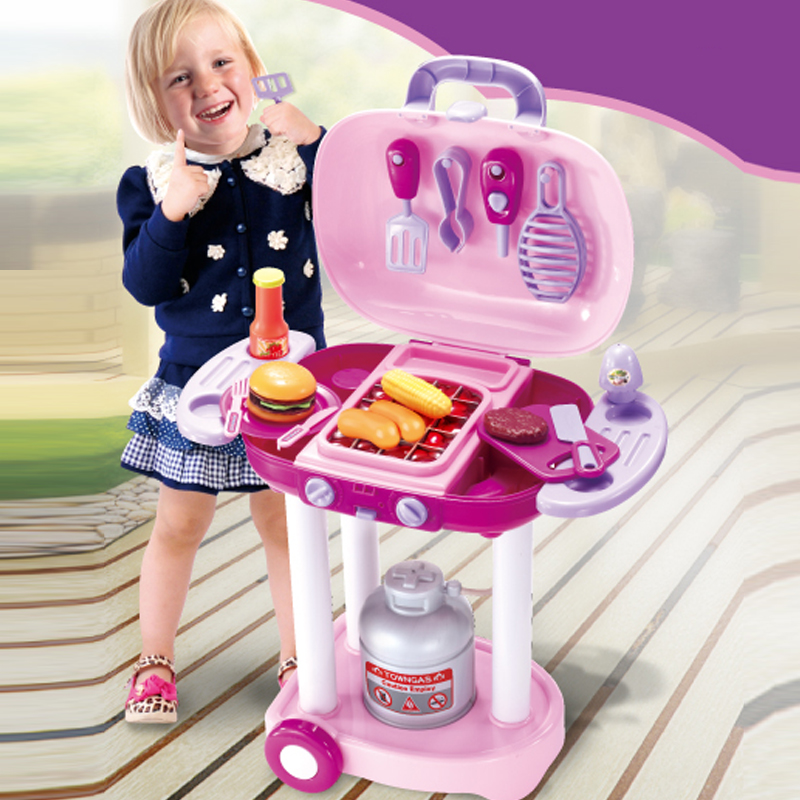 Classic Toys Pretend Play Kitchen Toys Mother Garden Children Kitchen Toys Cooking Miniature Toy 26 pcs accessories Set(China (Mainland))