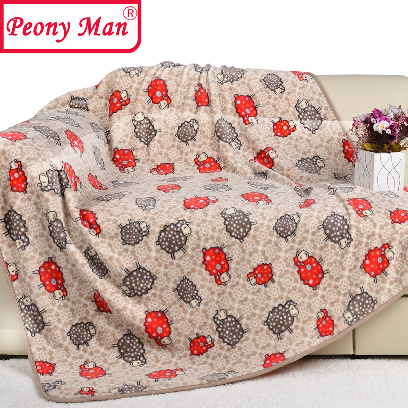 Hot flannel blanket thick warm winter travel car throw for Cobertor para sofa