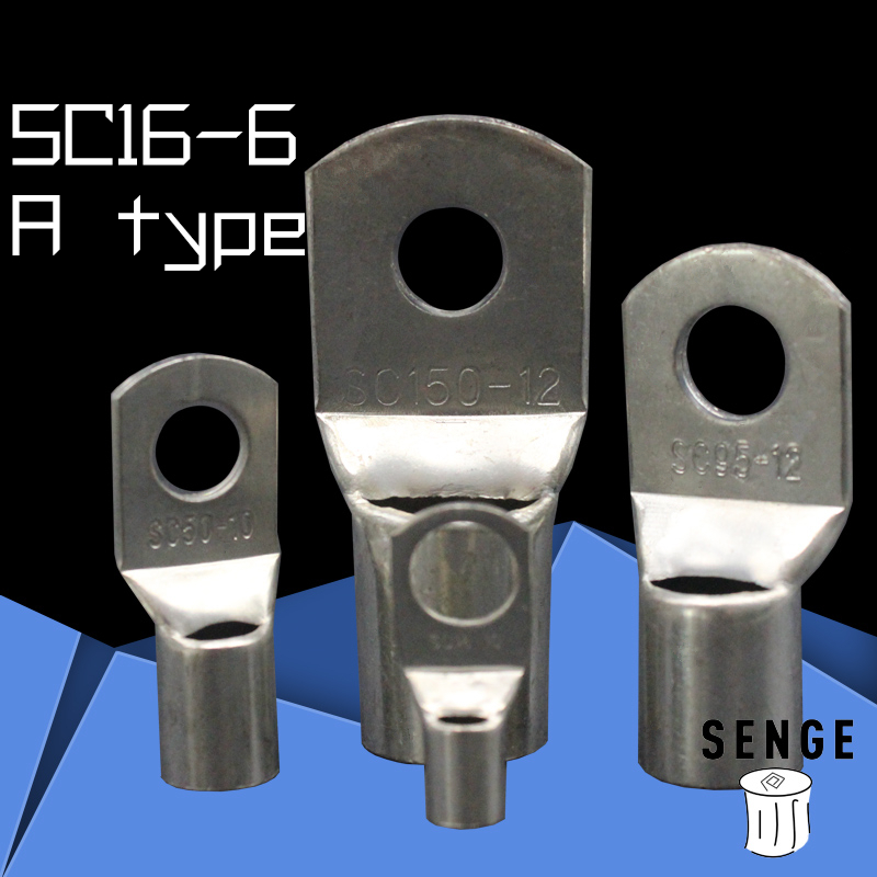 1piece SC(JGK)16-6 tinned copper cable lugs crimp type Electric power fittings equipment contact A type National Standard<br><br>Aliexpress