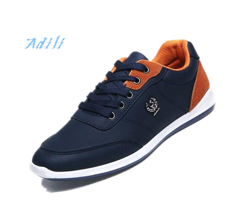 <font><b>LEMAI</b></font> New 2016 PU Leather Shoes Shoes Men Flats Lace Up Autumn Men Casual Shoes Zapatillas Hombre