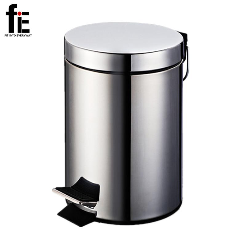 bathroom toilet 3/5/7L stainless steel garbage bin Mini dustbin small kitchen trash can eco-friendly waste bin(China (Mainland))