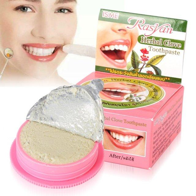 Удивительные Травы Отбеливание Зубов Естественный Травяной пасты Тайский зубная паста Сильная Формула Бесплатный & Drop Доставка