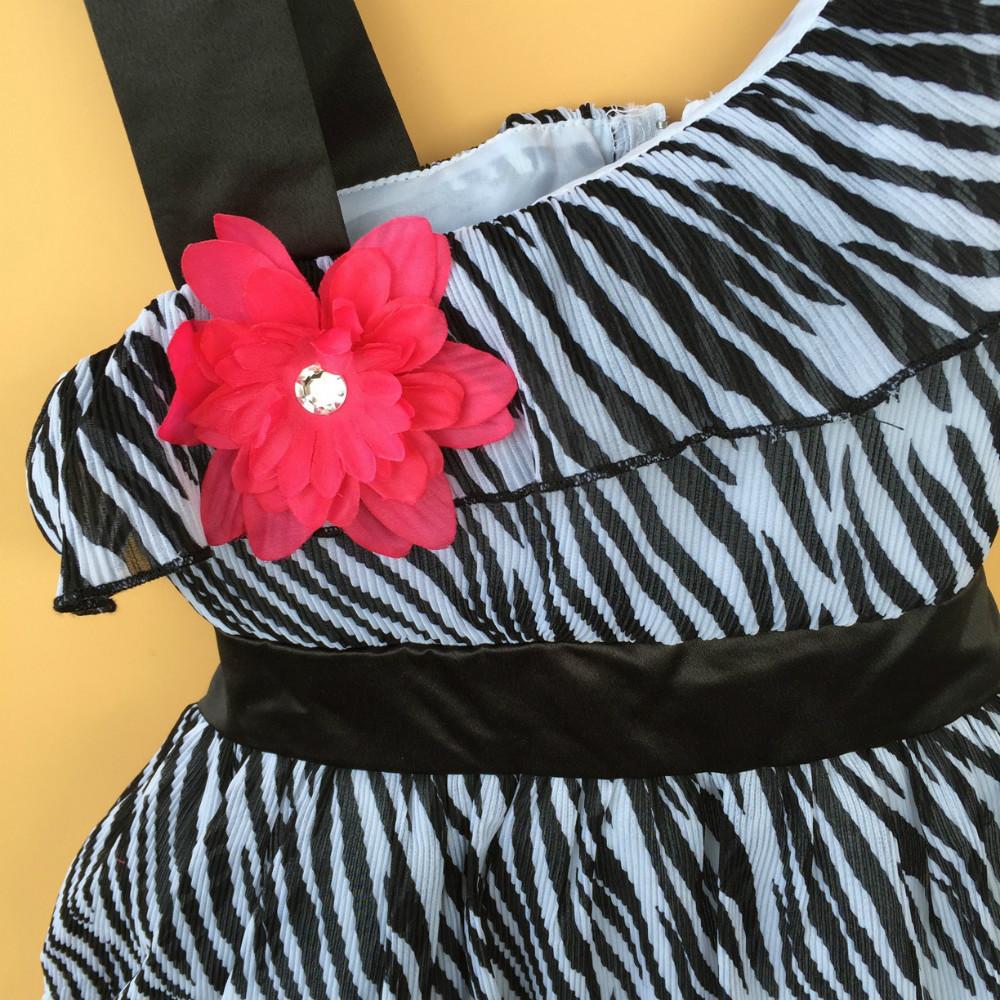 Zebra Strapless Dress