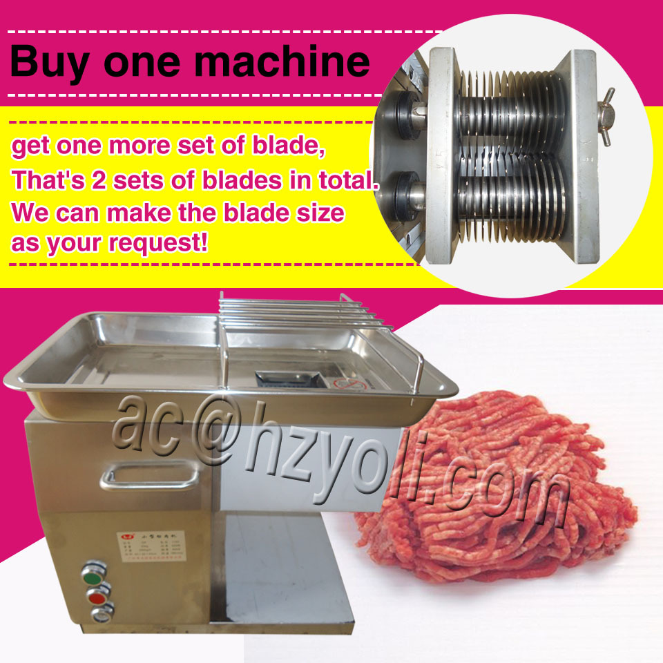 automatic 2.5-50MM Cut thickness meat cutter cutting machine, with two sizes blades meat slicer slicing machine(Hong Kong)