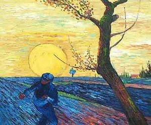 Peinture l 39 huile de reproduction van gogh paysage toile art van 044 dans peinture et - Peinture a l huile van gogh ...