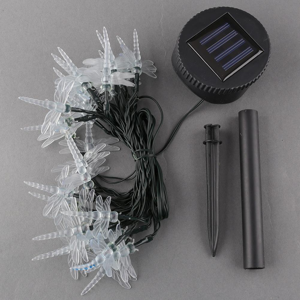 Solar Power 30LED Romantic Dragonfly Xmas Durable String Decor Outdoor Light(China (Mainland))