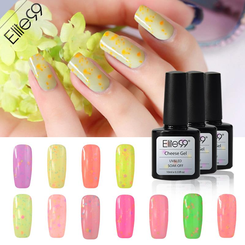 Elite99 Cute CandyGel Varnishes Gel Paint Polish Nail Kit Cheese UV Curing Candy Effect Pick 2 Cheese Candy Color(China (Mainland))
