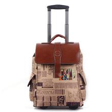 20 polegada collège millésime chariot bagages sur roulettes bagages voyage d'embarquement sac grand sac sac étanche sac d'école de valise pack(China (Mainland))
