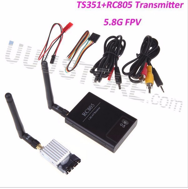 FPV Combo System 5.8Ghz 200mw boscam Transmitter Receiver no blue Monitor 900TVL Camera5