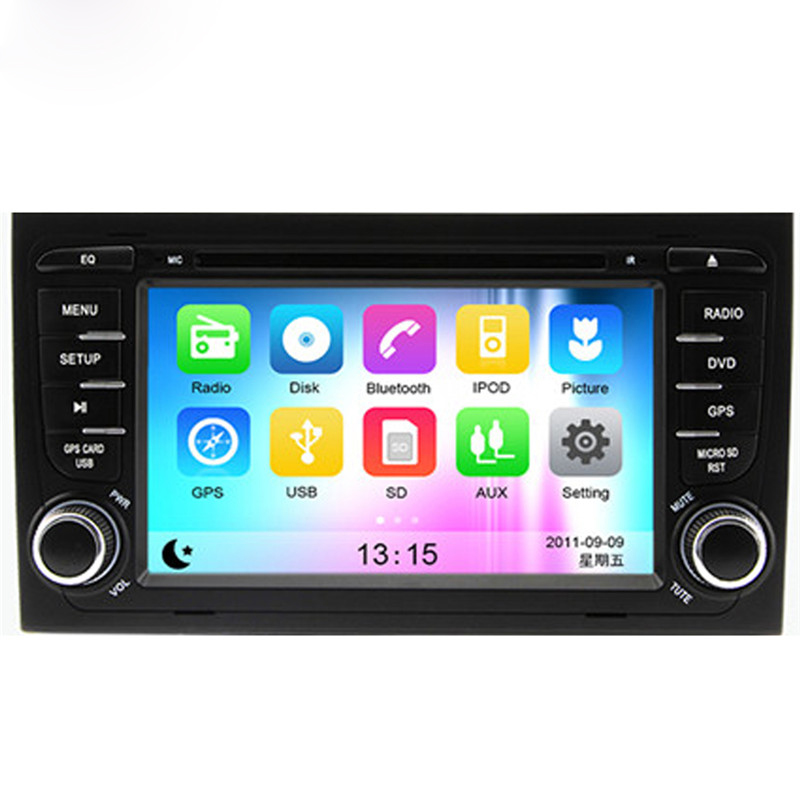 Wince 6.0 Car Radio for Audi A4 2002-2008 Car DVD+GPS+RDS+Bluetooth+A2DP+Phone book+USB & SD+Support for iPod for iPhone+AUX(China (Mainland))