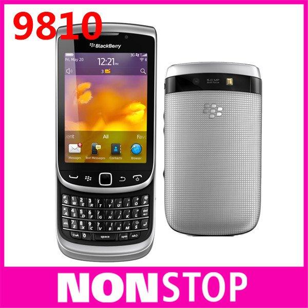 9810 Original BlackBerry Torch 9810 GPS WIFI 5MP JAVA QWERTY Keyboard Unlocked Mobile Phone Free Shipping One Year Warranty(China (Mainland))