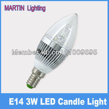 3w led candle bulb SMD cree high power small screw-mount e14 silver led  candles lamp