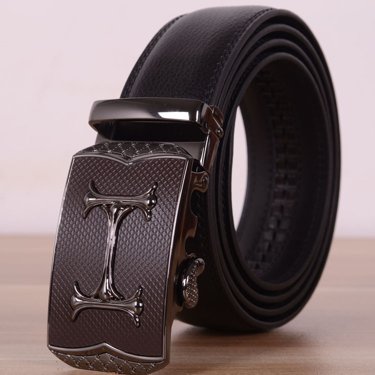 automatic buckle designer belts for mens black classic luxury belt