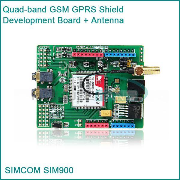 SIM900 of SIMCOM Quad-band GSM GPRS Shield Development Board + Antenna for Arduino(China (Mainland))