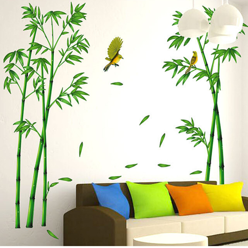 Green Deep Bamboo Forest 3d Wall Stickers Romance