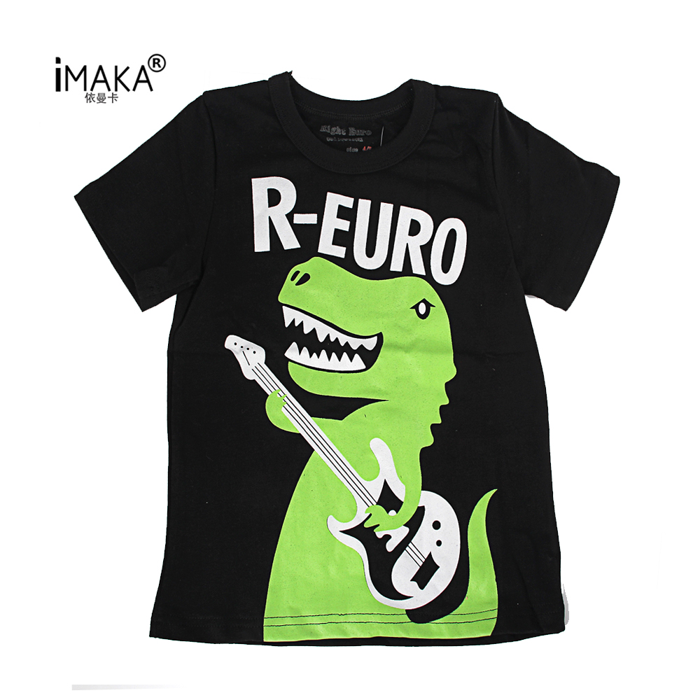 iMAKA Summer Children's Clothing Baby Boys Girls T-shirt Cartoon Dinosaur Cotton T-shirt Kids Tops Tees T Shirts 2-8Y Clothes(China (Mainland))